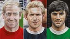 Bobby Charlton, Denis Law and George Best