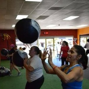 A fitness class at Results Fitness