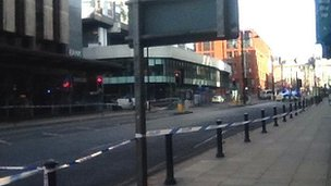 Police cordon around New York Street