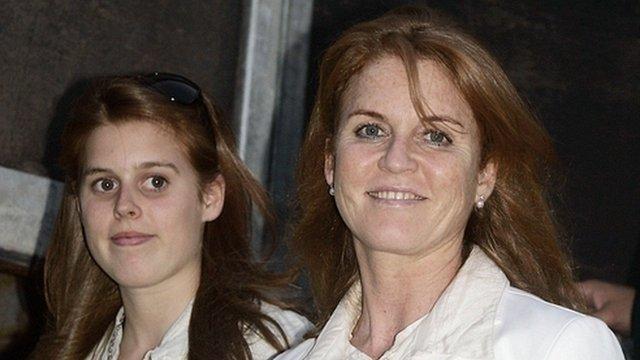 Sarah Ferguson, Duchess of York with Princess Beatrice