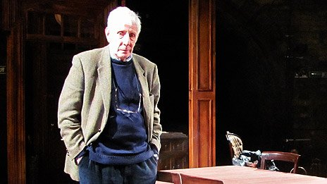 Jonathan Miller on the Rutherford and Son set