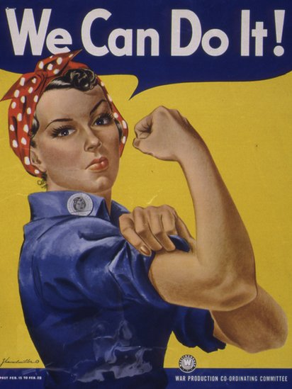 "WWII ""We Can Do It"" poster, also known as ""Rosie the Riveter"""