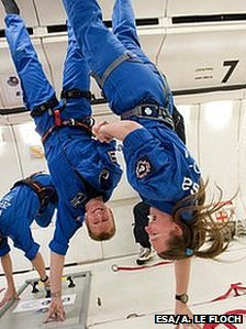 Tim Peake and Gail Iles