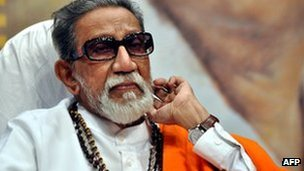 File photo of Bal Thackeray, founder of Shiv Sena