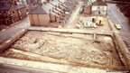 Excavations at the fort in 1975