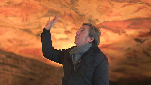 Andrew Graham-Dixon inspects cave art at Altamira