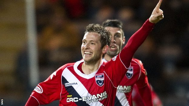 Ross County scorer Paul Lawson