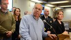 Boston Mayor Thomas Menino briefs the media and citizens of Boston on emergency preparedness 8 February 2013