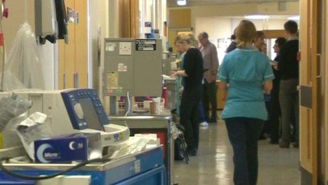 Ward at Stafford Hospital
