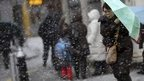 In pictures: US and Canada snowstorm