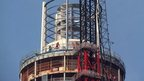 Helicopter crash tower work resumes