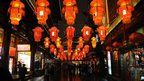 Lanterns in Shanghai for Lunar New Year, 8 February