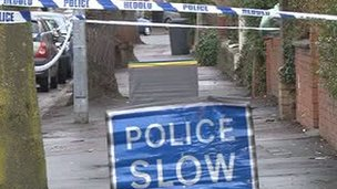 Police cordon in Roath, Cardiff