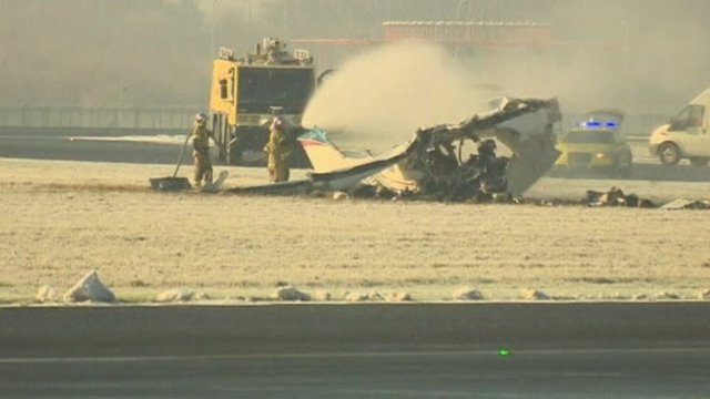 Fatal crash closes Charleroi airport