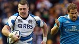 Stuart Hogg races clear to score a stunning solo try for Scotland