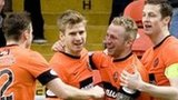 Dundee United celebrate Johnny Russell's opening goal