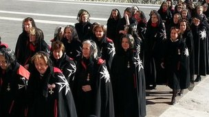 Dames of Malta at ceremonies marking the 900th anniversary of the order