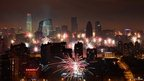 Fireworks illuminate Beijing's skyline (9 February 2013)