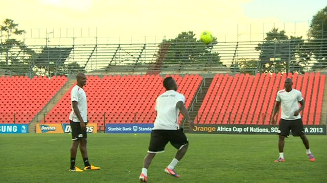 Training session ahead of the AFCON final