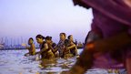 Pilgrims at the Kumbh Mela, Allahabad, India