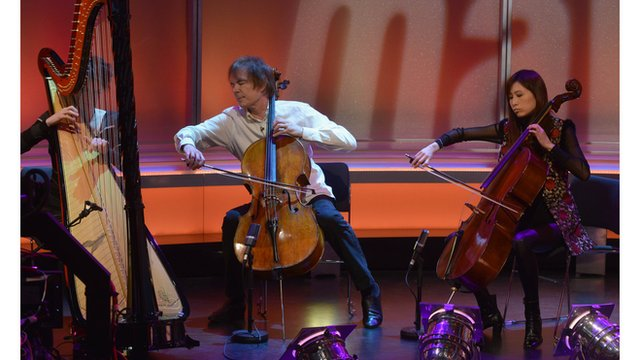 Catrin Finch, Julian Lloyd Webber and Jiaxin Cheng