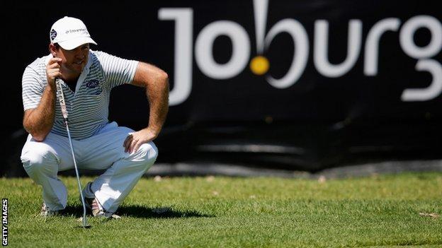 Richard Sterne in action at the Johannesberg Open