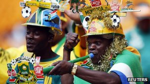 Fans before the Afcon final