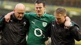 Ireland's Jonathan Sexton limped off in the first half