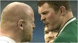 England prop Dan Cole and Ireland second row Donnacha Ryan square up
