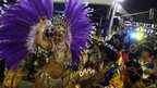 Revellers from Paraiso do Tuiuti samba school (10 February 2013)