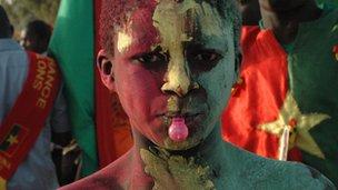 A Burkina Faso supporter