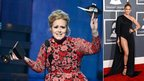 Adele and Jennifer Lopez at the Grammys
