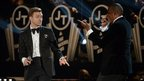 Justin Timberlake (left) and Jay-Z perform at the Grammys