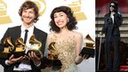 Gotye with Kimbra and Prince (inset) at the Grammys
