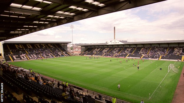Notts County's ground Meadow Lane