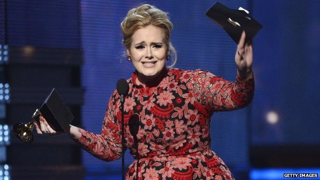 Adele wins a Grammy
