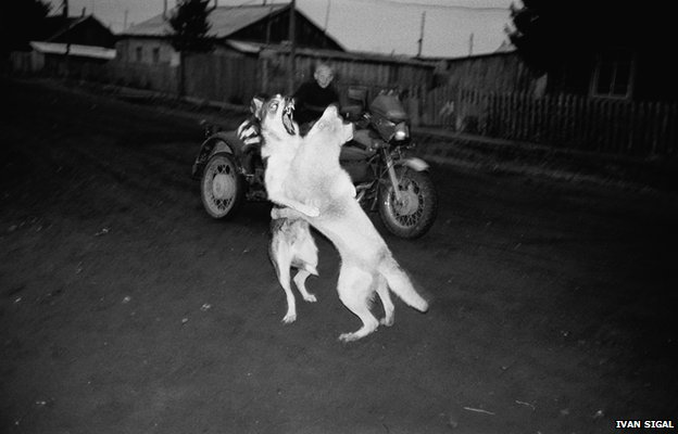 Verkhneimbatsk, Russia, 2003, from White Road by Ivan Sigal