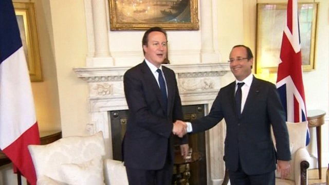 David Cameron and Francois Hollande