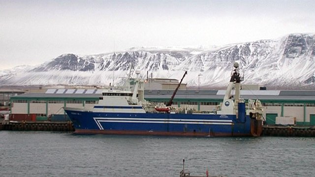 Fishing boat in Icelandic harbour