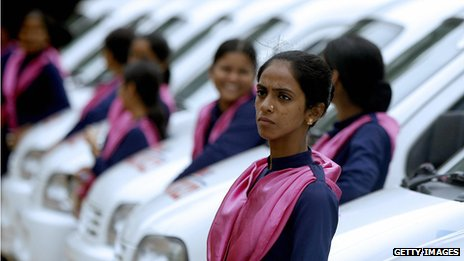 Female taxi drivers in Mumbai
