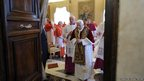 Pope Benedict XVI leaves at the end of a consistory at the Vatican, 11 February 2013