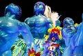 A reveller of Portela samba school participates in the annual Carnival parade in Rio de Janeiro's Sambadrome, Brazil