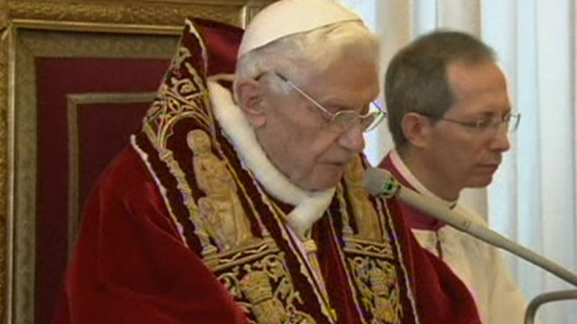 Benedict 'to stand back' on new pope