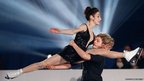 Marry Davis and Charlie White of the USA