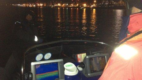 Onboard a patrol boat