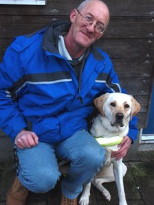Robert and Wag (Pic: The Guide Dogs for the Blind Association)