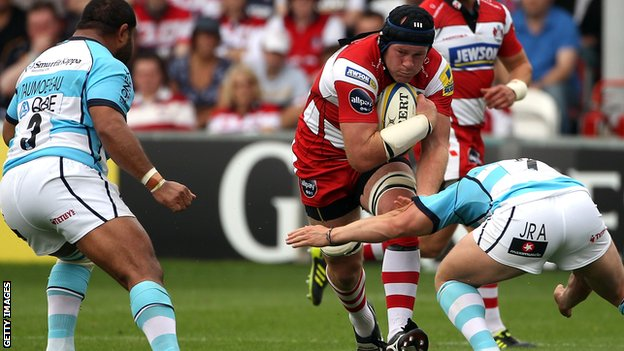 Peter Buxton in action for Gloucester