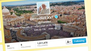 Pope's twitter feed