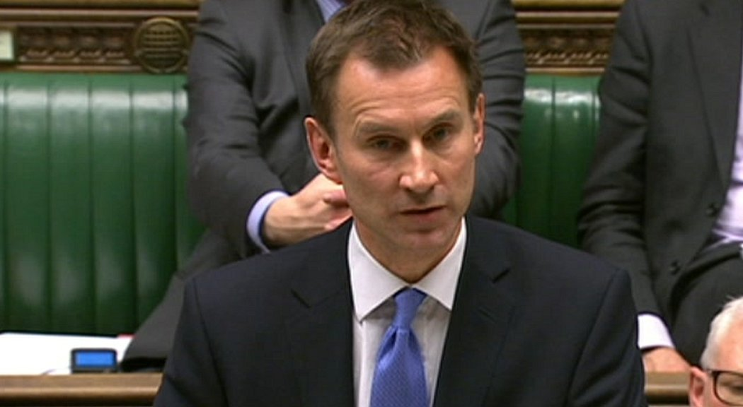 Jeremy Hunt in the House of Commons