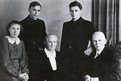 Picture taken in the year 1951 shows the family of Josef Ratzinger (top right) in Freising, Bavaria